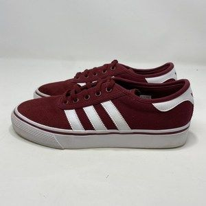 Adidas Women's Maroon Skateboarding Shoes Sz7 A126